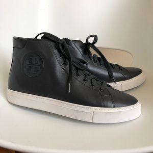 Tory Burch Nola High Top Sneakers - Navy